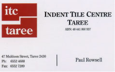 Indent Tile Centre Taree
